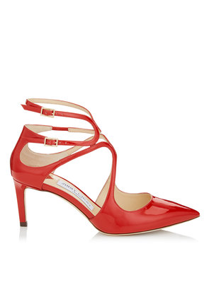 LANCER 65 Red Patent Leather Pointy Toe Pumps