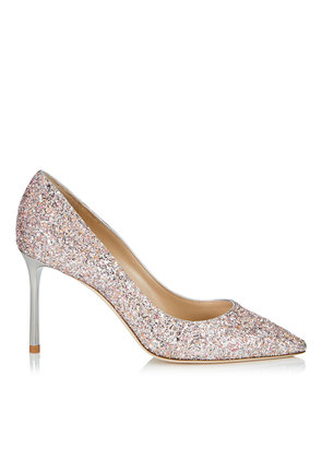 ROMY 85 Viola Mix Speckled Glitter Pointy Toe Pumps