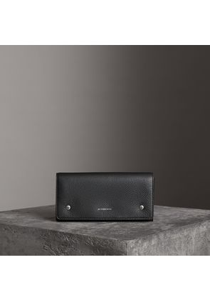 Burberry Two-tone Leather Continental Wallet, Black