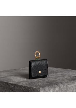 Burberry Small Square Leather Coin Case Charm, Black