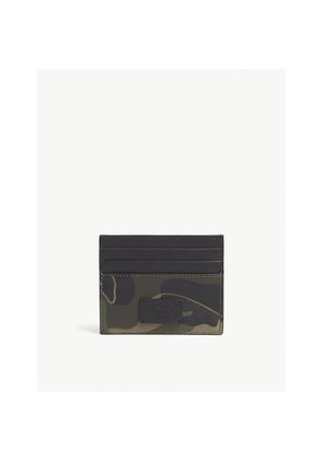 Camouflage leather card holder