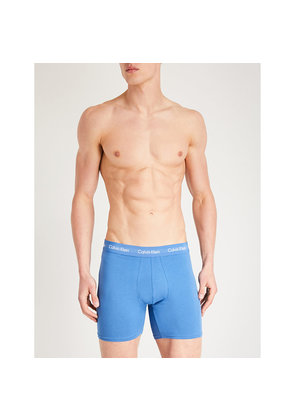 Pack of three Solid classic-fit cotton-jersey boxer briefs