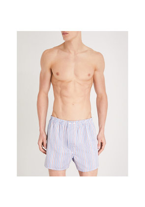 Striped regular-fit cotton boxers