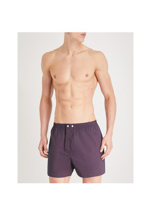 Circle classic-fit cotton-woven boxers
