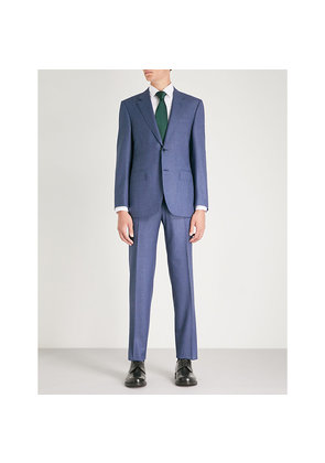 Puppytooth slim-fit wool suit