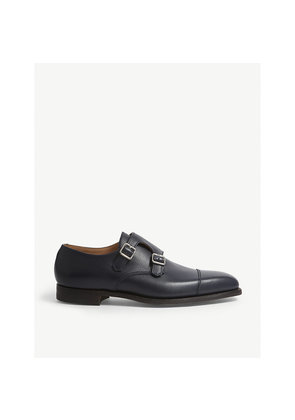 Lowndes double monk leather shoes