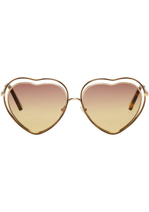Chloé Gold Heart Poppy Love Sunglasses