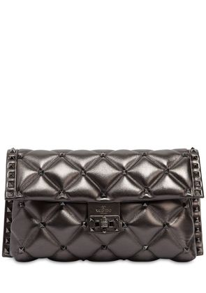 CANDY METALLIC LEATHER CLUTCH