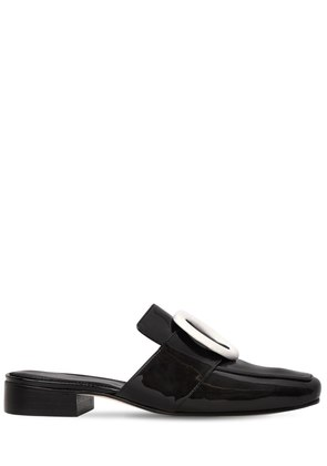 10MM PETROL SHADOW PATENT LEATHER MULES