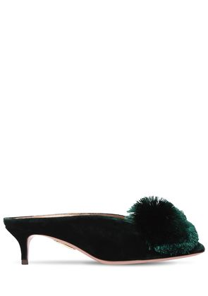 45MM POWDER PUFF VELVET MULES