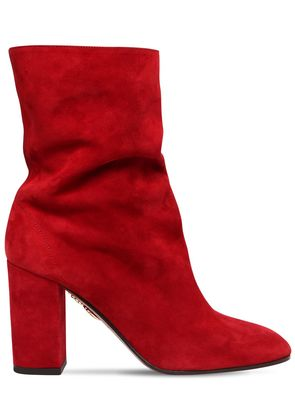85MM BOOGIE SUEDE ANKLE BOOTS