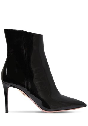 85MM ALMA PATENT LEATHER ANKLE BOOTS