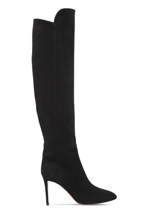 85MM SUEDE OVER THE KNEE BOOTS