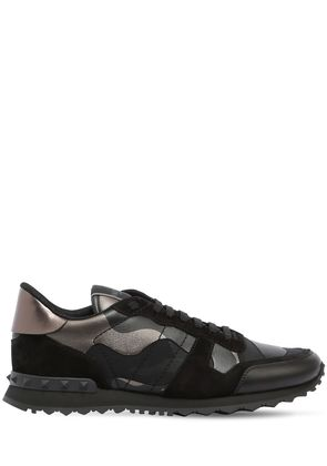 ROCKRUNNER CAMO LEATHER SNEAKERS