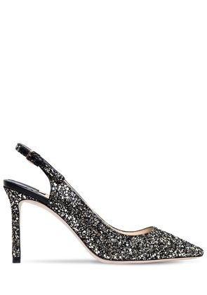 85MM ERIN GLITTERED SLINGBACK PUMPS