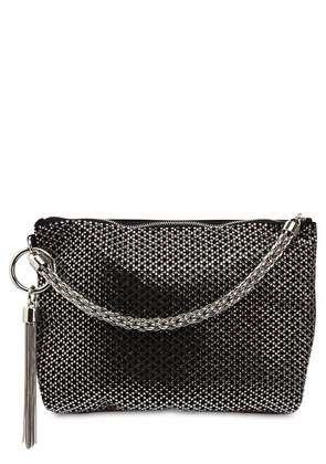 CALLIE EMBELLISHED LEATHER CLUTCH