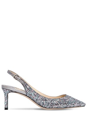 60MM ERIN GLITTERED SLINGBACK PUMPS