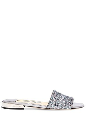 10MM JONI GLITTERED SLIDE SANDALS