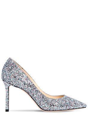 85MM ROMY GLITTERED PUMPS