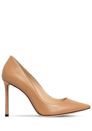 100MM ROMY LEATHER PUMPS
