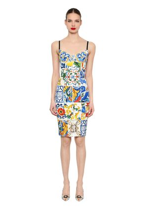 MAIOLICA PRINTED CHARMEUSE DRESS