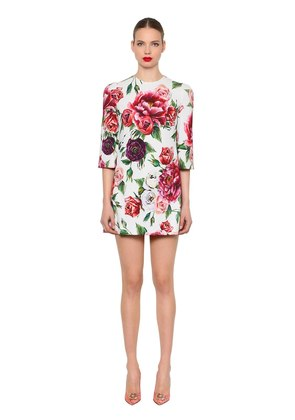 FLORAL PRINTED CADY MINI DRESS