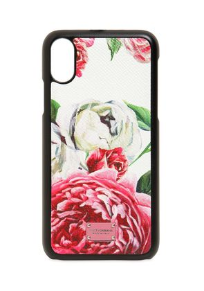 FLORAL PRINTED LEATHER IPHONE X CASE
