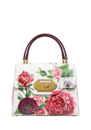 SMALL WELCOME FLORAL PRINTED BAG