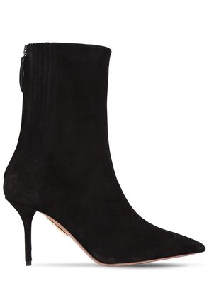 85MM SAINT HONORÉ SUEDE ANKLE BOOTS