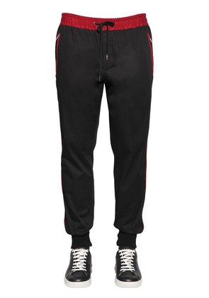 LOGO PATCH COTTON SWEATPANTS