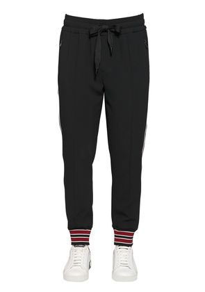 TECH VISCOSE BLEND TRACK PANTS