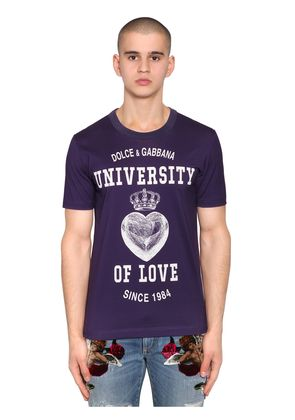 UNIVERSITY OF LOVE PRINT JERSEY T-SHIRT
