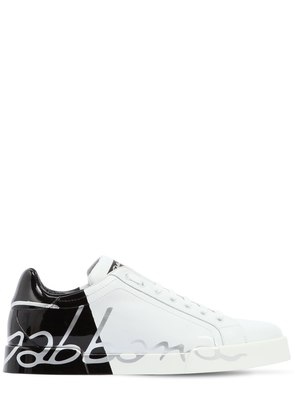 TWO TONE LEATHER SNEAKERS