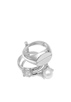 Maison Margiela Perle and Solitaire 4 Row Rings
