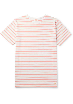 Armor Lux - Striped Cotton-jersey T-shirt - Pink