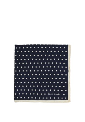 Polka-dot print silk pocket square