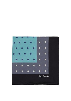 Polka-dot tricolour pocket square