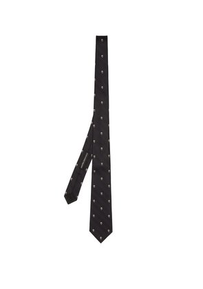 Prince Of Wales check and skull tie