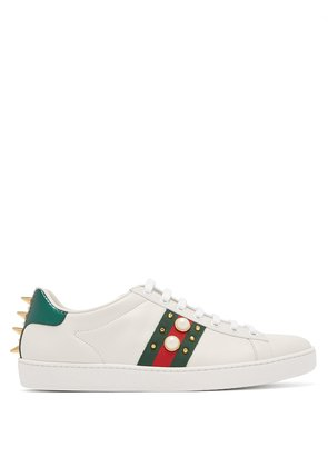 New Ace stud-embellished leather trainers