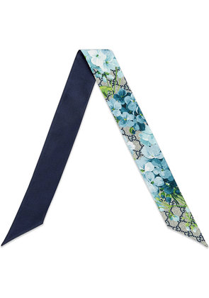 Gucci GG Blooms scarf - Blue