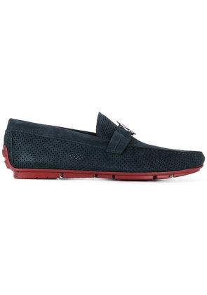 Roberto Cavalli perforated loafers - Blue
