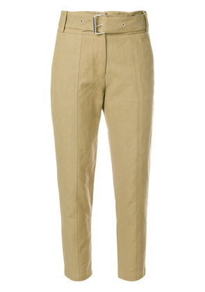 Iro belt cropped trousers - Nude & Neutrals