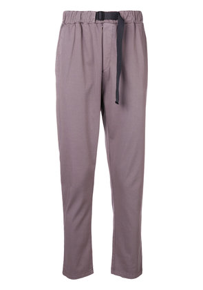 Low Brand tapered dropped crotch trousers - Pink & Purple