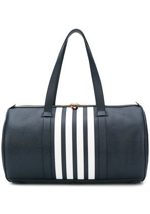 Thom Browne Unstructured Gym Bag With Contrast 4-bar Stripe In Pebble