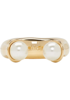 Chloé Gold and Pearl Round Darcey Ring