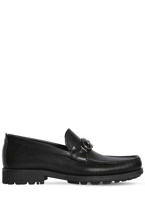 DAVID LOGO LEATHER LOAFERS