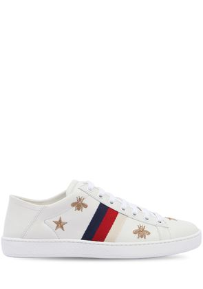 NEW ACE EMBROIDERY LEATHER MULE SNEAKERS