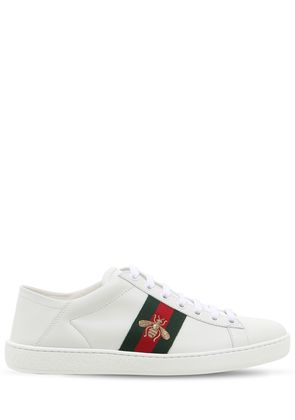 NEW ACE EMBROIDERED LEATHER MULE SNEAKER