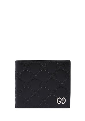 GG SIGNATURE LEATHER CLASSIC WALLET