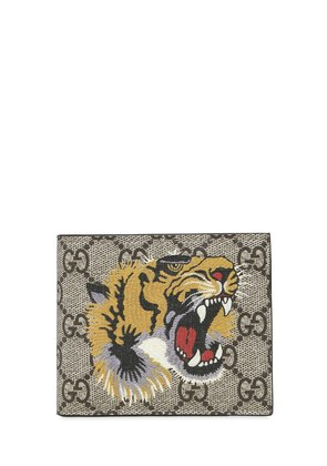 TIGER PRINTED GG SUPREME CLASSIC WALLET